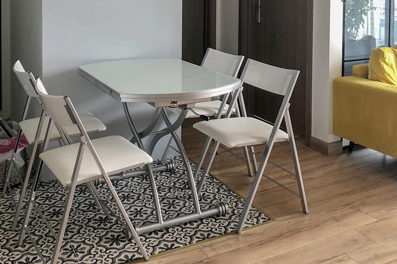 Hình ảnh thực tế bàn ăn thông minh mở rộng-nâng hạ B2252-10-5
