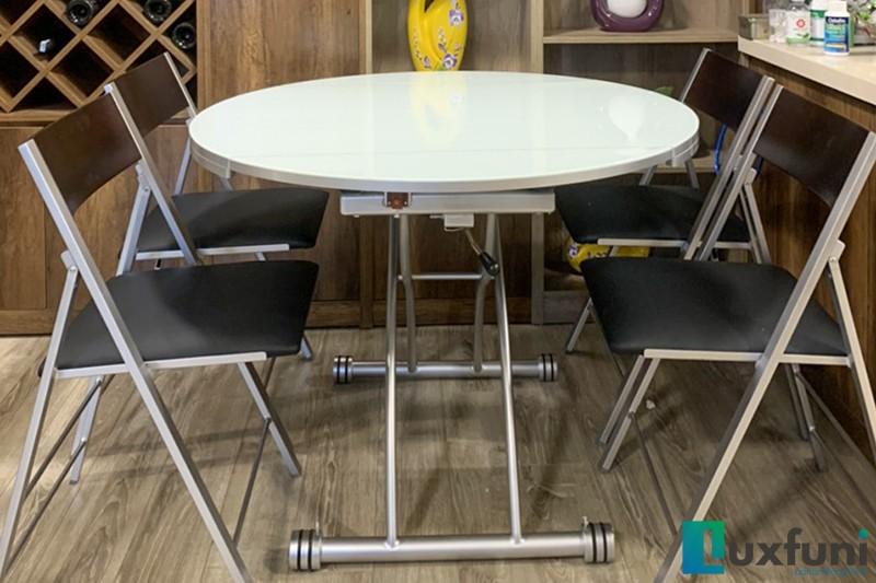 Hình ảnh thực tế bàn ăn thông minh mở rộng-nâng hạ B2252-4