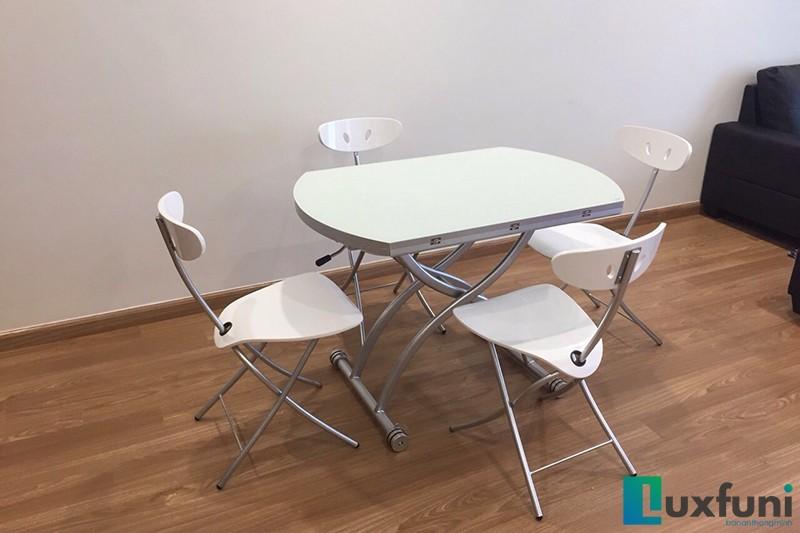 Hình ảnh thực tế bàn ăn thông minh mở rộng-nâng hạ B2252-9