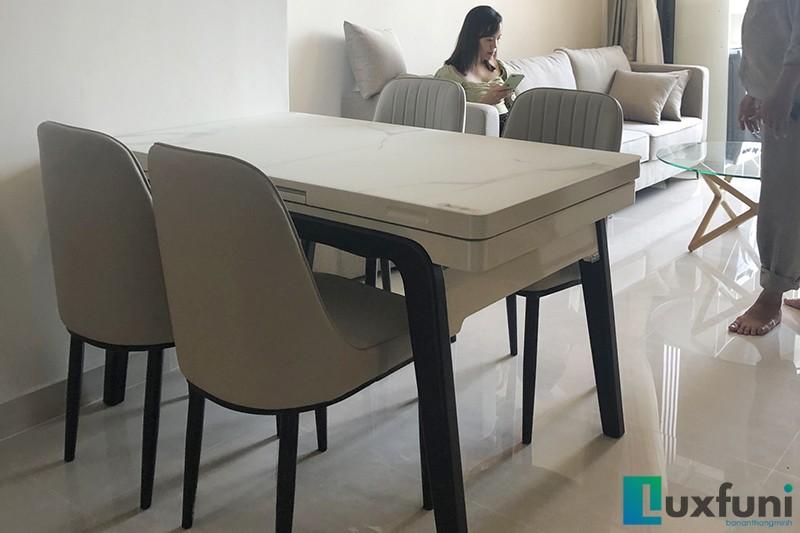 Hình ảnh thực tế bàn ăn thông minh tích hợp bếp từ T1958-10