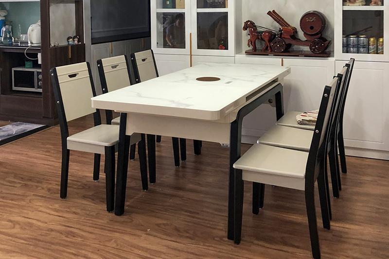 Hình ảnh thực tế bàn ăn thông minh tích hợp bếp từ T1958-11