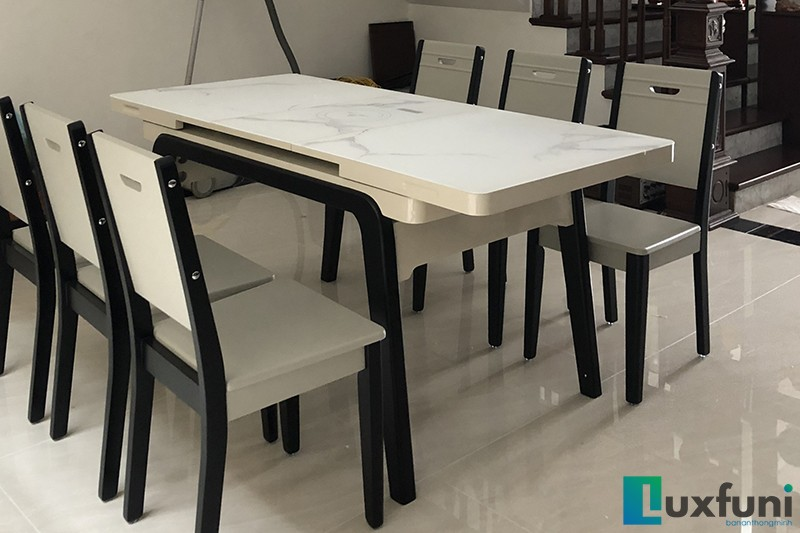 Hình ảnh thực tế bàn ăn thông minh tích hợp bếp từ T1958-14
