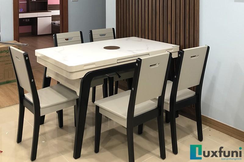 Hình ảnh thực tế bàn ăn thông minh tích hợp bếp từ T1958-15