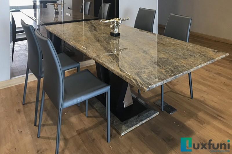 Hình ảnh thực tế bàn ăn Vivi mặt đá TC8189-1