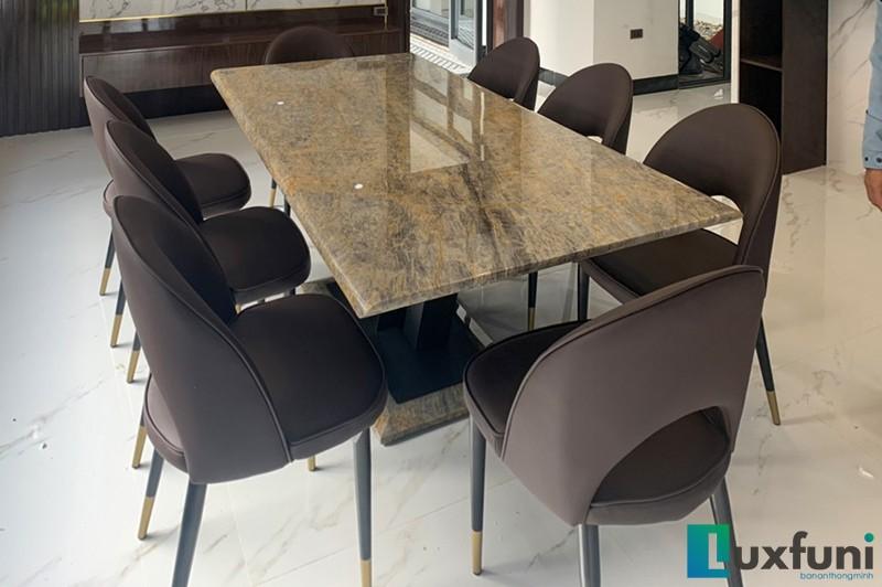 Hình ảnh thực tế bàn ăn Vivi mặt đá TC8189-6