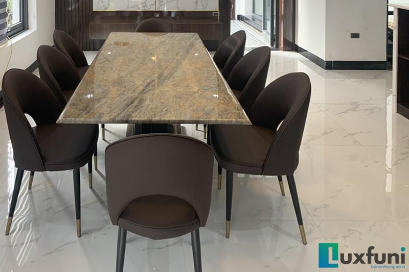 Hình ảnh thực tế bàn ăn Vivi mặt đá TC8189-7