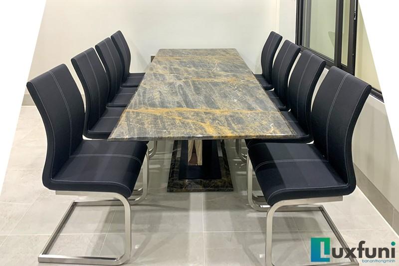 Hình ảnh thực tế bàn ăn Vivi mặt đá TC8189-9