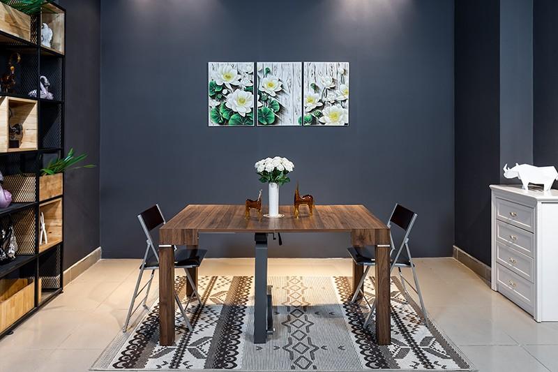 Những mẫu bàn ăn hiện đại mặt gỗ nâng tầm không gian bếp-4