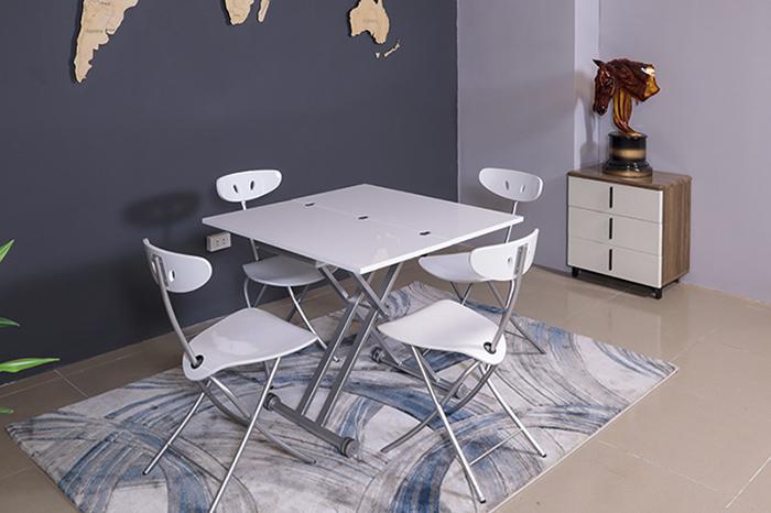 Ý tưởng bố trí bàn ghế ăn đẹp cho nhà chật trở nên rộng rãi-3