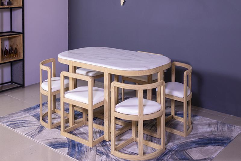 Bộ bàn ăn thông minh C1 (Kèm 6 ghế)-7