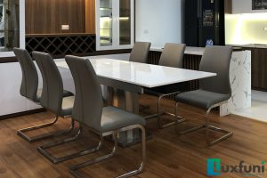 Ghế ăn C394 kết hợp bàn ăn thông minh mặt đá 8606-Anh Đông-Tòa Tecco, Thanh Trì, Hà Nội