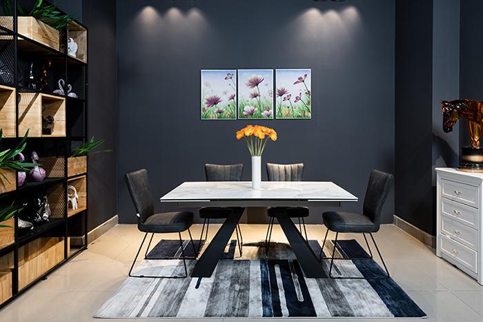 bàn ăn đẹp mặt đá - sự sang trọng cho ngôi nhà-1