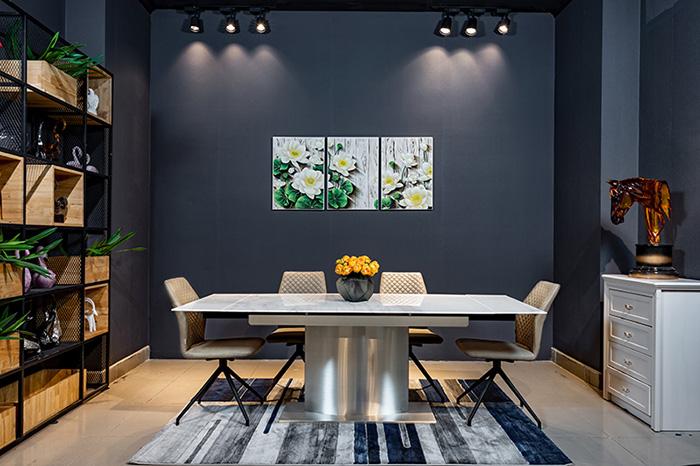 bàn ăn đẹp mặt đá - sự sang trọng cho ngôi nhà-2