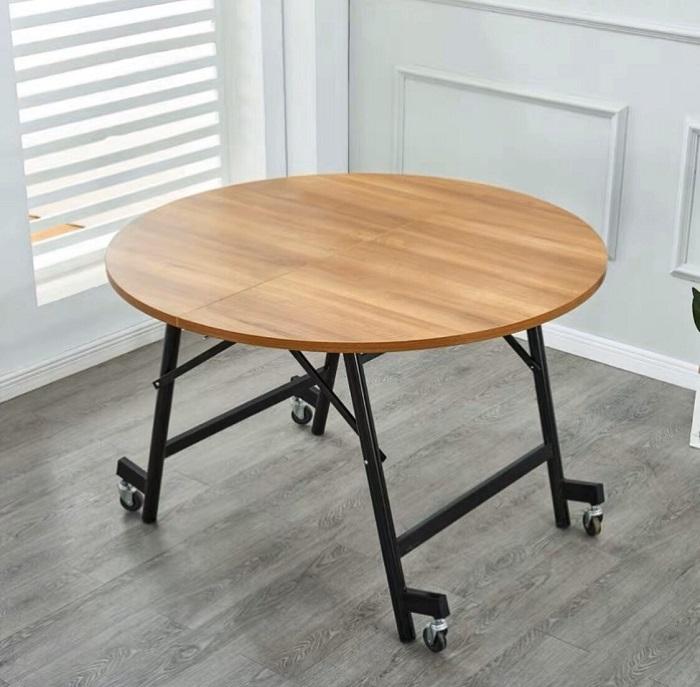 Điểm danh những mẫu bàn ăn tròn gấp gọn thông dụng nhất hiện nay-5