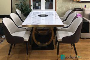 Ghế ăn D103 kết hợp bàn ăn mặt đá bếp từ 075-Anh Quân-Tòa 27A2, chung cư Green Star, 234 Phạm Văn Đồng
