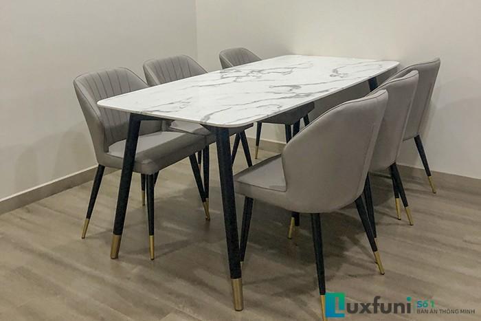 Ghế ăn Y209 kết hợp bàn ăn mặt đá CT108-Cô Thanh-Tòa R3B RoyalCity