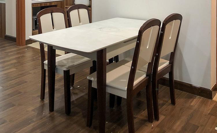 Hình ảnh thực tế bàn ăn thông minh bếp từ 870-12
