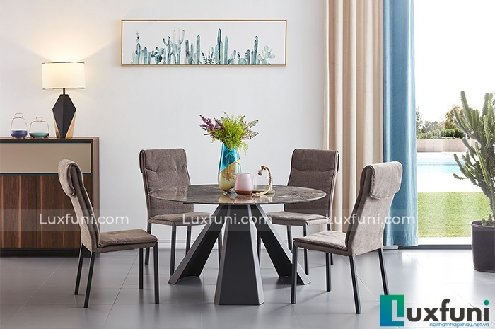 Những bàn ăn tròn mặt đá sở hữu chất lượng đỉnh cao-5