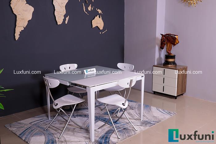 Những bộ bàn ăn 4 ghế nhỏ gọn, phù hợp với với nhiều gia đình hiện đại-2