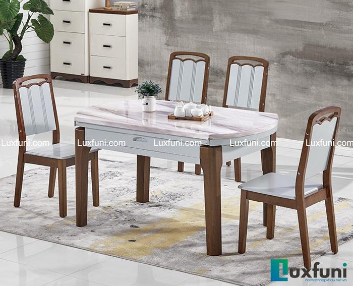 5+ mẫu bàn ăn mở rộng mặt đá-7