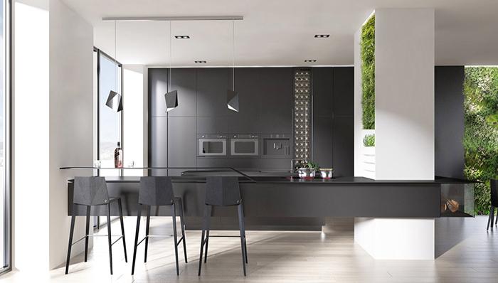 Thiết kế không gian bếp đẹp hiện đại