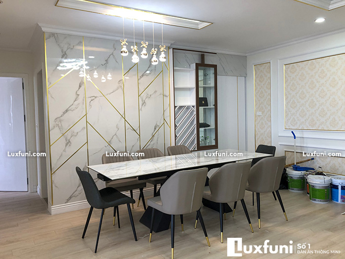 Bàn ăn chung cư 8 ghế thay đổi diện mạo không gian bếp nhà bạn-3-1