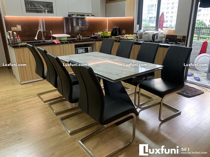 Bàn ăn chung cư 8 ghế thay đổi diện mạo không gian bếp nhà bạn-4-1