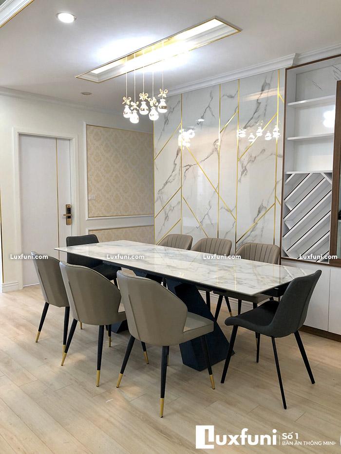 Bàn ăn chung cư 8 ghế thay đổi diện mạo không gian bếp nhà bạn-5-1