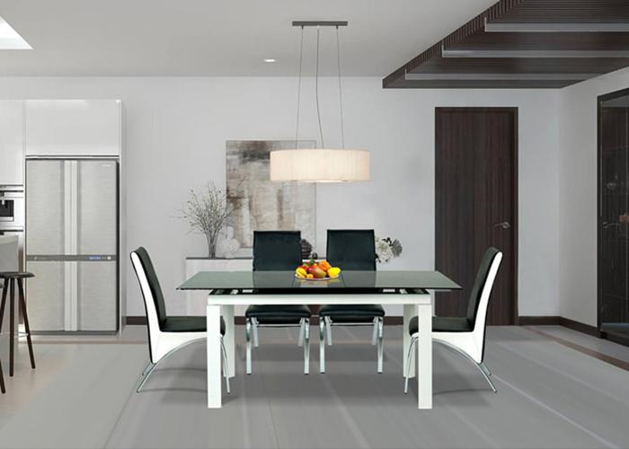 Bàn ăn chung cư 8 ghế thay đổi diện mạo không gian bếp nhà bạn