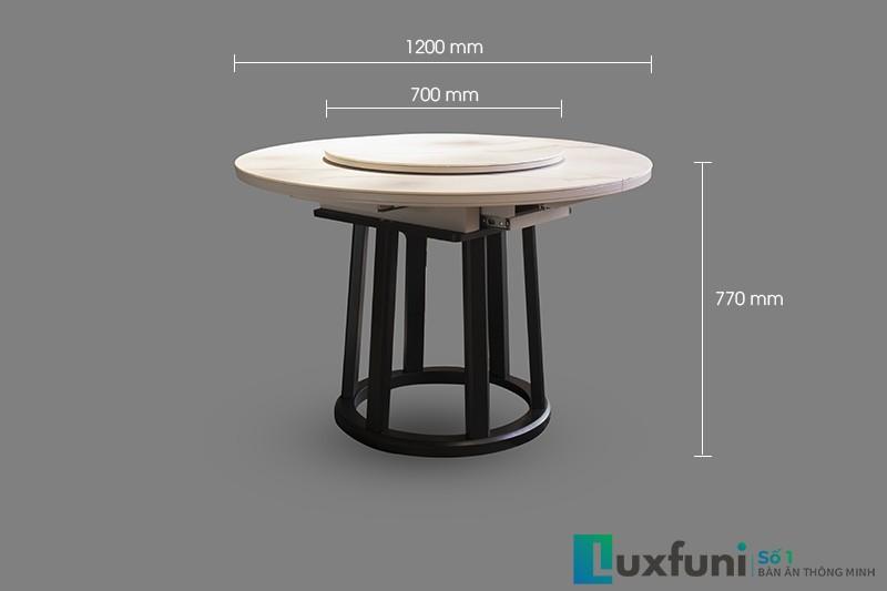 Đánh giá bàn ăn thông minh mặt đá mở rộng T5066-1