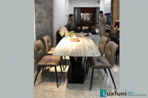 Ghế ăn A118 kết hợp bàn ăn mặt đá ghi xám T261-Chị Hương-Lãng Yên, Hai Bà Trưng, Hà Nội-1