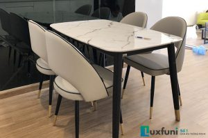 Ghế ăn C1228 kết hợp bàn ăn mặt đá C6-Chị Hiền-Tòa S2, Vinhomes Skylake, Phạm Hùng