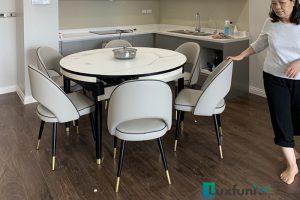 Ghế ăn C1228 kết hợp bàn ăn thông minh bếp từ T1959-Chú Long-Tòa Residence Tây Hồ, 68A Võ Chí Công, Xuân La, Tây Hồ-1