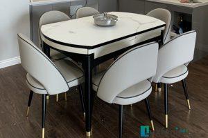Ghế ăn C1228 kết hợp bàn ăn thông minh bếp từ T1959-Chú Long-Tòa Residence Tây Hồ, 68A Võ Chí Công, Xuân La, Tây Hồ