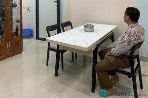 Ghế ăn Y2020-2 kết hợp bàn ăn bếp từ T1958-Chị Hoa-Thị trấn Kim Động, Hưng Yên-1