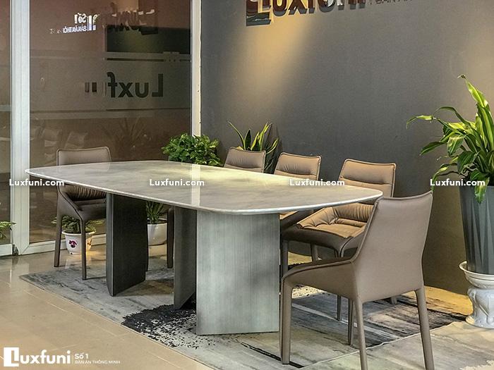 Giới thiệu chi tiết mẫu bàn ăn đá cẩm thạch Carrara TC8276-3