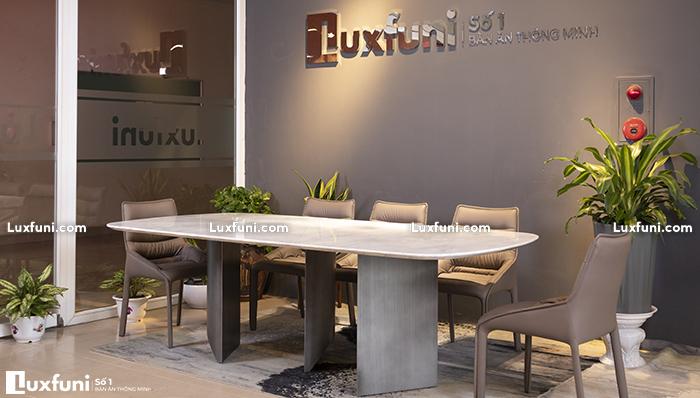 Giới thiệu chi tiết mẫu bàn ăn đá cẩm thạch Carrara TC8276
