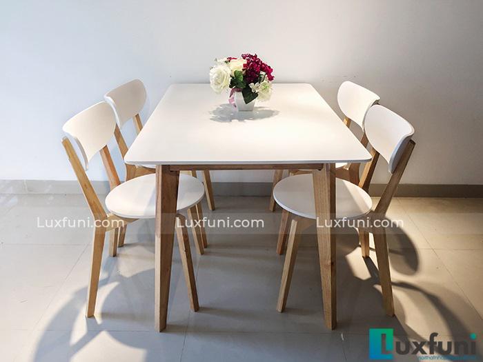 Mẫu bàn ăn đẹp bằng gỗ tự nhiên hot nhất hiện nay-4