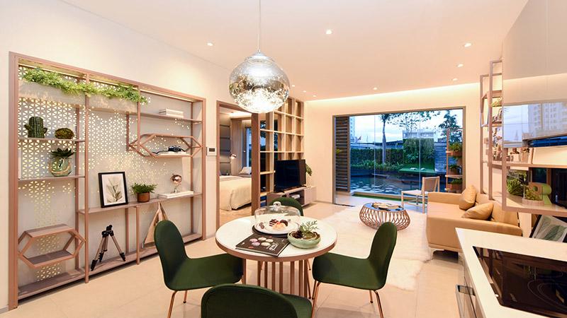 Những ý tưởng thông minh khi hoàn thiện nội thất phòng khách chung cư nhỏ-001