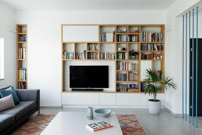 Những ý tưởng thông minh khi hoàn thiện nội thất phòng khách chung cư nhỏ-3