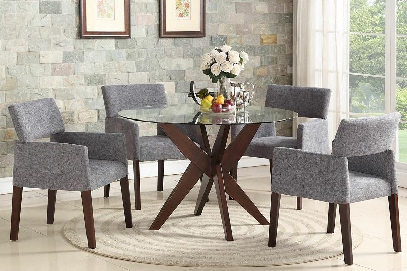 Tô điểm căn bếp theo phong cách Modernism với bàn ăn kính tròn-1