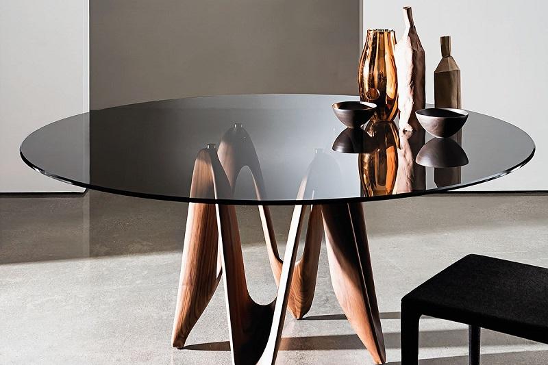 Tô điểm căn bếp theo phong cách Modernism với bàn ăn kính tròn-2