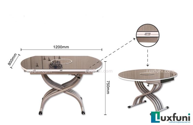 Tô điểm căn bếp theo phong cách Modernism với bàn ăn kính tròn-3