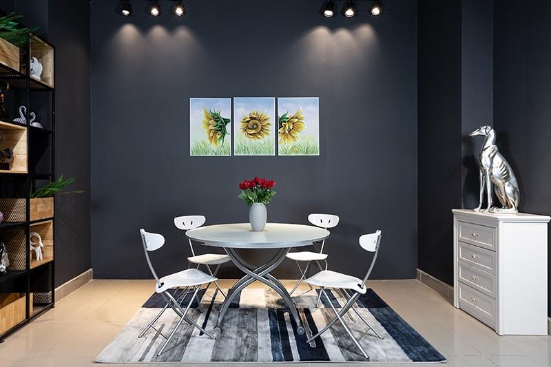 Tô điểm căn bếp theo phong cách Modernism với bàn ăn kính tròn-6