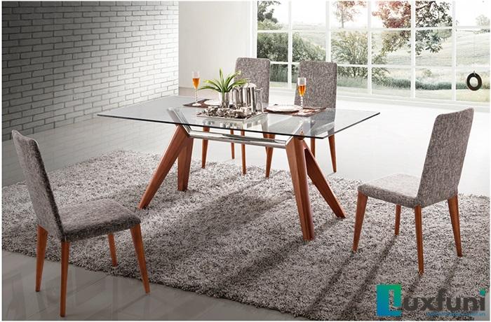 Tổng hợp 5 bộ bàn ăn gỗ mặt kính đẹp giá siêu hời-2
