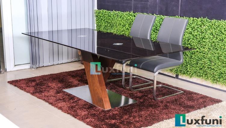 Tổng hợp 5 bộ bàn ăn gỗ mặt kính đẹp giá siêu hời-4