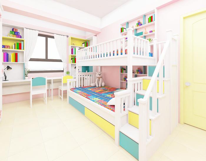 Tổng hợp những mẫu giường tầng cho bé hot-8