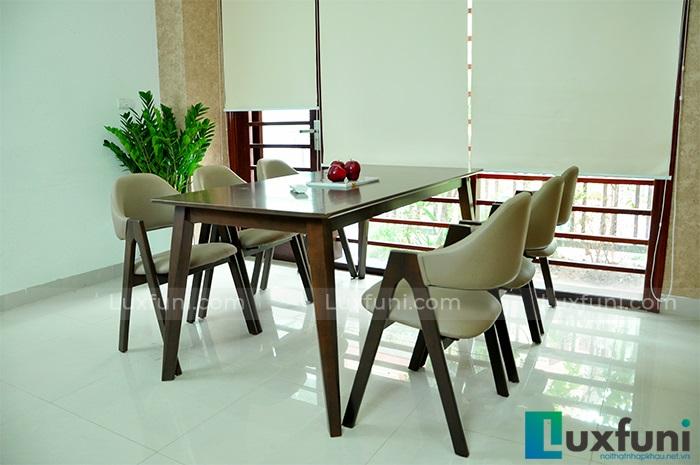 Top 15+ mẫu bàn ghế gỗ cao su - Hàng nhập khẩu chính hãng-1