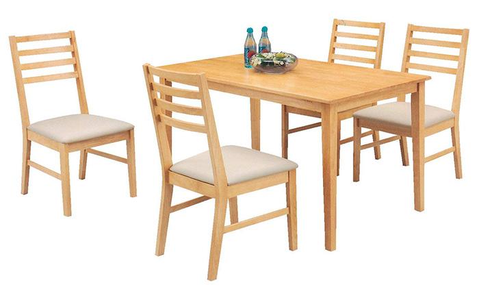 Top 15+ mẫu bàn ghế gỗ cao su - Hàng nhập khẩu chính hãng-10