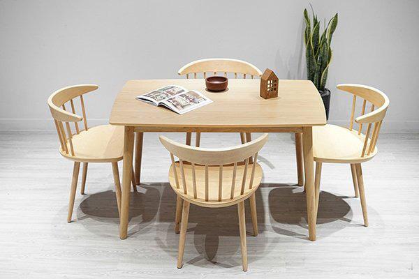 Top 15+ mẫu bàn ghế gỗ cao su - Hàng nhập khẩu chính hãng-11